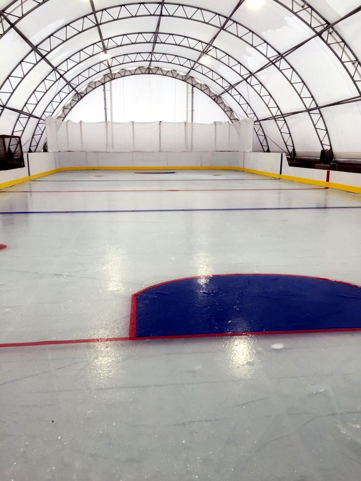 Covered Shelter Polygon : Covered ice skating hockey rinks alberta canvas fabric